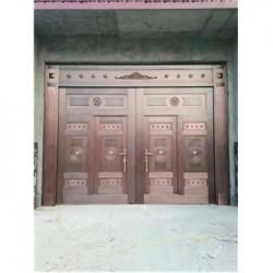 鹤壁市庭院铜大门(电动铜门)价格低-品质