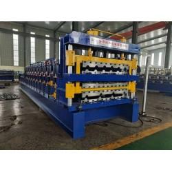 兴和压瓦机定做840/900/800双层压瓦机实心轴压瓦机