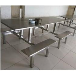 厂家销售不锈钢连体餐桌 长条形餐桌 批发供应可定制