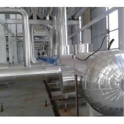 蒸压釜设备保温玻璃棉卷毡不锈钢防腐保温工程承包