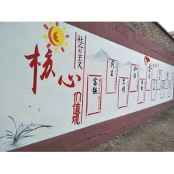 南阳墙面彩绘,南阳彩绘文化墙,南阳墙体绘画广告